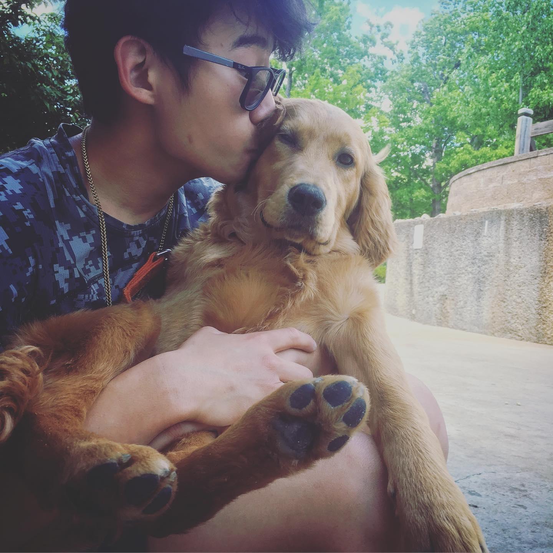 canine kiss